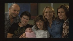 Steve Parker, Declan Napier, India Napier, Bridget Parker, Miranda Parker, Rebecca Napier in Neighbours Episode 5718