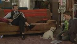 Toadie Rebecchi, Rocky, Callum Jones in Neighbours Episode 5723