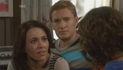 Libby Kennedy, Dan Fitzgerald, Bridget Parker in Neighbours Episode 5728