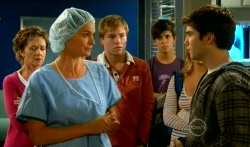 Susan Kennedy, Dr. Peggy Newton, Ringo Brown, Zeke Kinski, Donna Freedman, Declan Napier in Neighbours Episode 5737