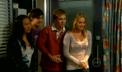 Sunny Lee, Zeke Kinski, Ringo Brown, Donna Freedman in Neighbours Episode 5737