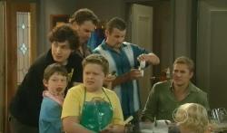 Harry Ramsay, Ben Kirk, Lucas Fitzgerald, Callum Jones, Toadie Rebecchi, Dan Fitzgerald, Charlie Hoyland in Neighbours Episode 5738