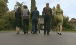 Sunny Lee, Zeke Kinski, Declan Napier, Ringo Brown, Donna Freedman in Neighbours Episode 5740