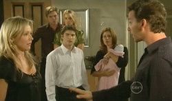 Steph Scully, Ringo Brown, Donna Freedman, Declan Napier, Rebecca Napier, India Napier, Lucas Fitzgerald in Neighbours Episode 5740
