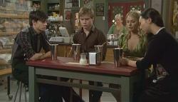 Zeke Kinski, Ringo Brown, Donna Freedman, Sunny Lee in Neighbours Episode 5741