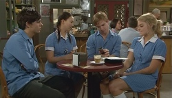Zeke Kinski, Sunny Lee, Ringo Brown, Donna Freedman in Neighbours Episode 5742