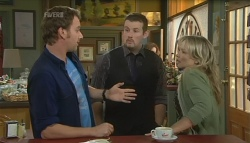 Lucas Fitzgerald, Toadie Rebecchi, Steph Scully in Neighbours Episode 5743