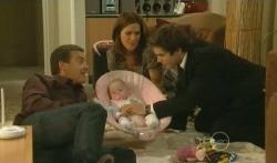 Paul Robinson, India Napier, Rebecca Napier, Declan Napier in Neighbours Episode 5745