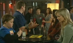 Callum Jones, Toadie Rebecchi, Paul Robinson, Declan Napier, Rebecca Napier, Libby Kennedy, Steph Scully in Neighbours Episode 5745