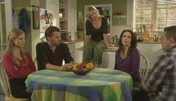 Elle Robinson, Lucas Fitzgerald, Steph Scully, Libby Kennedy, Toadie Rebecchi in Neighbours Episode 5748
