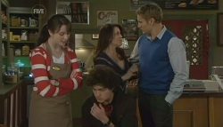 Kate Ramsay, Harry Ramsay, Libby Kennedy, Dan Fitzgerald in Neighbours Episode 5748