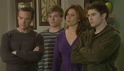 Paul Robinson, Ringo Brown, Rebecca Napier, Declan Napier in Neighbours Episode 5751