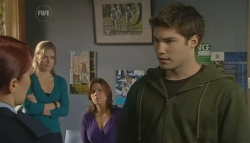 Constable Simone Page, Elle Robinson, Rebecca Napier, Declan Napier in Neighbours Episode 5751