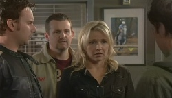 Lucas Fitzgerald, Toadie Rebecchi, Steph Scully, Declan Napier in Neighbours Episode 5751
