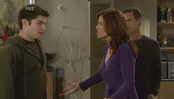 Declan Napier, Rebecca Napier, Paul Robinson in Neighbours Episode 5752