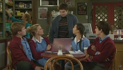 Ringo Brown, Donna Freedman, Declan Napier, Sunny Lee, Zeke Kinski in Neighbours Episode 5753