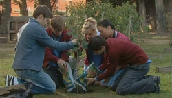 Declan Napier, Ringo Brown, Donna Freedman, Zeke Kinski, Sunny Lee in Neighbours Episode 5753