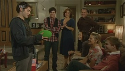 Declan Napier, Zeke Kinski, Rebecca Napier, Paul Robinson, Sunny Lee, Donna Freedman, Ringo Brown in Neighbours Episode 5756