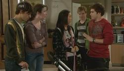 Zeke Kinski, Kate Ramsay, Sunny Lee, Ringo Brown, Declan Napier in Neighbours Episode 5758