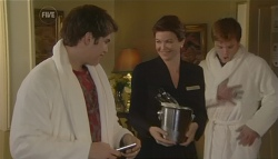 Declan Napier, Sue Thomas, Ringo Brown in Neighbours Episode 5758