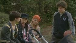 Zeke Kinski, Sunny Lee, Donna Freedman, Harry Ramsay in Neighbours Episode 5758