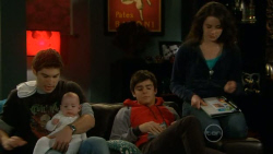 Declan Napier, India Napier, Zeke Kinski, Kate Ramsay in Neighbours Episode 5795
