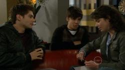 Declan Napier, Zeke Kinski, Kate Ramsay in Neighbours Episode 5795