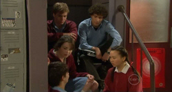 Zeke Kinski, Ringo Brown, Kate Ramsay, Harry Ramsay, Sunny Lee in Neighbours Episode 5797