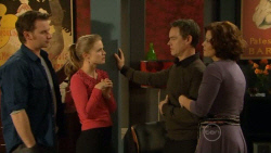 Lucas Fitzgerald, Elle Robinson, Paul Robinson, Rebecca Napier in Neighbours Episode 5798