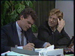 Paul Robinson, Clive Gibbons in Neighbours Episode 0383