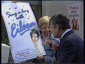 Eileen Clarke, Leslie Roland in Neighbours Episode 0383