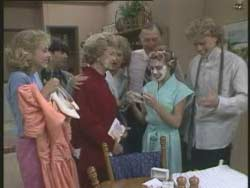 Jane Harris, Hilary Robinson, Edna Ramsay, Madge Bishop, Dan Ramsay, Charlene Mitchell, Henry Ramsay in Neighbours Episode 0523