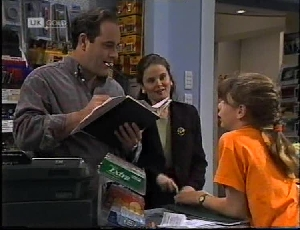 Philip Martin, Julie Robinson, Hannah Martin in Neighbours Episode 2183