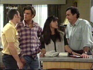 Stonie Rebecchi, Malcolm Kennedy, Susan Kennedy, Karl Kennedy in Neighbours Episode 2595