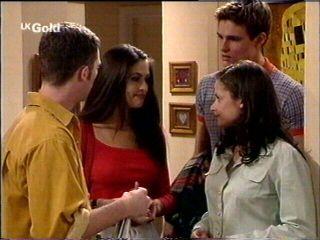 Ben Atkins, Sarah Beaumont, Caitlin Atkins, Matt Compton in Neighbours Episode 2952