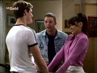 Matt Compton, Ben Atkins, Sarah Beaumont in Neighbours Episode 2953