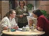 Toadie Rebecchi, Libby Kennedy, Louise Carpenter (Lolly), Darren Stark in Neighbours Episode 2997