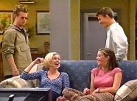 Lance Wilkinson, Amy Greenwood, Anne Wilkinson, Billy Kennedy in Neighbours Episode 3348