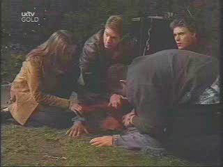 Libby Kennedy, Lance Wilkinson, Joe Scully, Karl Kennedy, Drew Kirk in Neighbours Episode 3445
