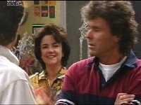 Drew Kirk, Lyn Scully, Joe Scully in Neighbours Episode 3495