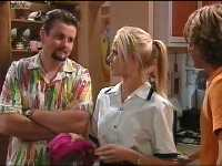 Toadie Rebecchi, Dee Bliss, Joel Samuels in Neighbours Episode 3566
