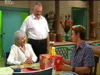 Madge Bishop, Harold Bishop, Tad Reeves in Neighbours Episode 3569