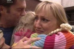 Evan Hancock, Emily Hancock, Maggie Hancock in Neighbours Episode 3812