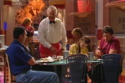Karl Kennedy, Susan Kennedy, Harold Bishop, Libby Kennedy, Drew Kirk in Neighbours Episode 3813