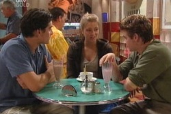 Paul McClain, Felicity Scully, Tad Reeves in Neighbours Episode 3814