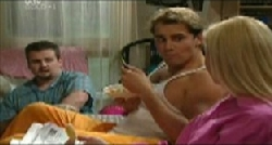 Toadie Rebecchi, Joel Samuels, Dee Bliss in Neighbours Episode 3833