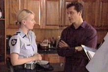 Sgt. Joanna Douglas, Darcy Tyler in Neighbours Episode 4261