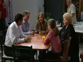 Paul Robinson, Max Hoyland, Steph Scully, Lou Carpenter, Valda Sheergold, Summer Hoyland in Neighbours Episode 4636