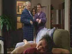 Harold Bishop, Liljana Bishop, David Bishop, Joe Mangel in Neighbours Episode 4774