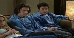 Stingray Timmins, Serena Bishop, Dylan Timmins in Neighbours Episode 4827